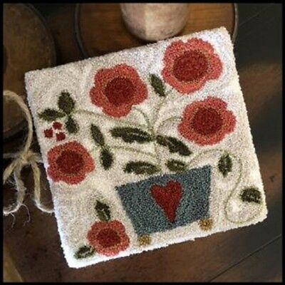 Potted Posies Punchneedle  Transfer Pattern-Little House Needleworks