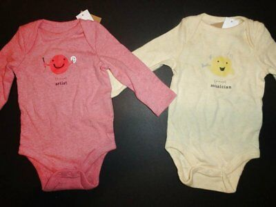 NEW Baby Gap 0-3 Musician/Artist PersonaliTees Bodysuits 2 Pieces