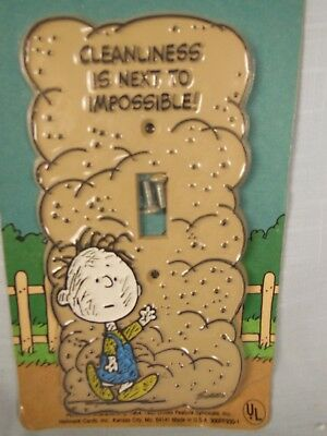 Vintage-Peanuts-Switch Plate-Pig Pen-In Original Package-Never Opened-Hallmark