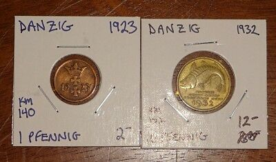 World Coin Inventory Clearance Danzig (2) Coins!!!