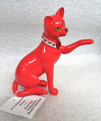"""""""A Compassionate Paws"""" from Purr-fect Support at Heart Hamilton Figurine COA"""