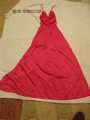 OLGA night gown pink VINTAGE size large STYLE 92399 lace top very full at bottom