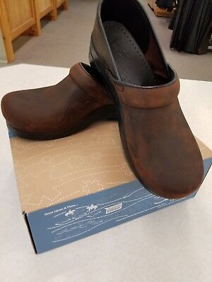 Dansko Professional Antique Brown Oiled Leather Clogs Size 44 **FREE SHIPPING**