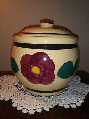 Vintage Watt Pottery  Pansy Cookie Jar.