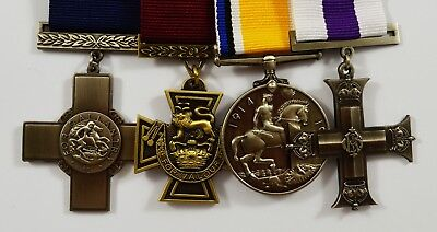 Set of 4 World War 1&2 Service Medals with Ribbons. Victoria, George Cross WW1