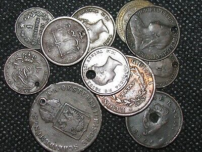 WORLD MIX ~ 11 Coin Lot ( ALL HOLED - CULL ) ~ World Collection ~ #2