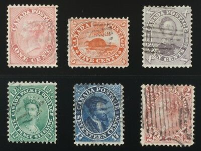 #14-15,17-20. First Cents 1859 complete basic set of 6 used -see description