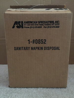ASI 0852 Sanitary Napkin Tampon Disposal Trash Waste Receptacle Surface Mount