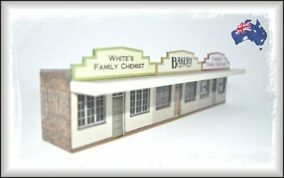 HO Scale Australian LOW RELIEF ROW OF SHOPS 4