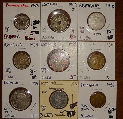 World Coin Inventory Clearance Romania (9) Coins!!!