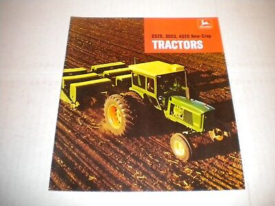John Deere 2520 3020 4020 Row Crop 1968 Tractor Brochure Catalog