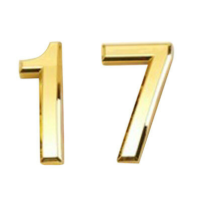 2x 3D Plastic Self-Adhesive House Hotel Door Number Sticky Numeric Digit 1,7