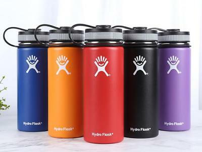 Hydro Flask Outdoor Sports Water Bottle Stainless Steel Insulated Wide Mouth Lid