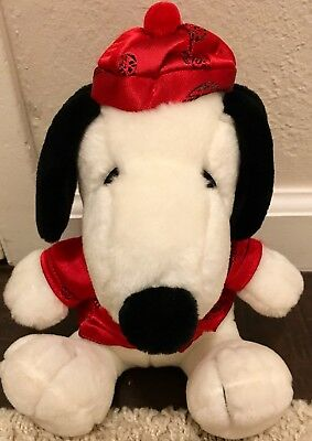 Metlife Peanuts Snoopy Plush In Red Chinese Outfit