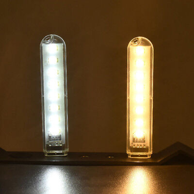 Mobile Power USB LED Lampe 8 LED LED Lampe Beleuchtung Computer Nacht Licht A/