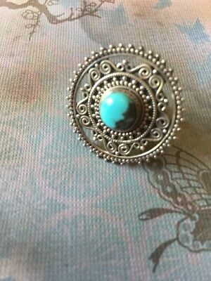 Sterling Turquoise Boho Ring