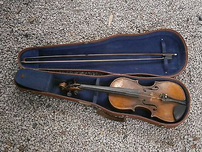 Antique Vintage Jacobus Stainer Violin In Asam Prope With Case And Bow