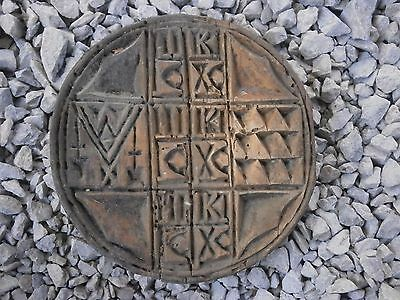 Old Rare Antique Wooden Ritual Bread Stamp Prosphora