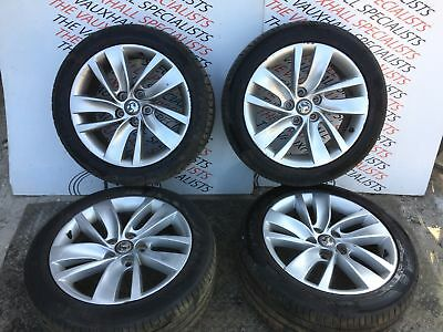 Vauxhall Insignia 09-On Set Of Alloy Wheels + Tyres 18 Inch  13633 Scratches