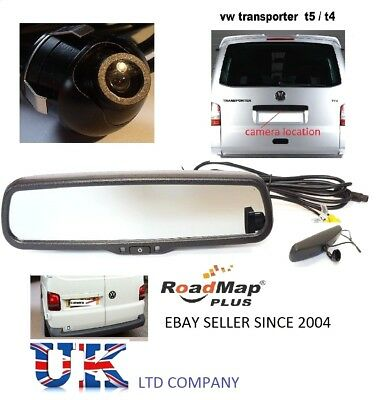 volkswagen transporter t5 rear parking camera kit rear mirror monitor reversing