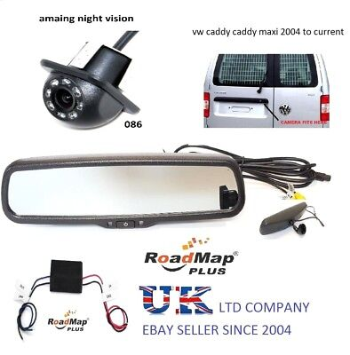 volkswagen caddy maxi rear reversing camera 4.3 rear view mirror monitor kit