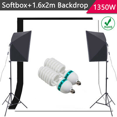 Photography Studio 1350W Softbox Lighting Stand Kit Photo Video Light Stand Set