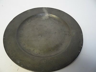 Antique Round Pewter Plate marked London