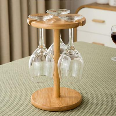 Wine Glass Drying Rack Champagne Stemware Cup Storage Holder Stand Shelf Wooden