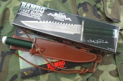 Rambo First Blood 25Th Year Sign  Licensed Multi-Function Survival Hunting Knife
