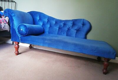 chaise longue, upcycle project, antique chaise longue, vintage chair