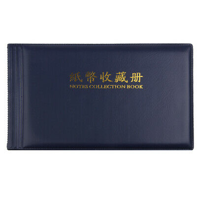 Banknote Currency Coins Album Storage 60Pcs Paper Money Pocket Collection