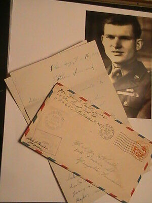 Ww2, My Personal 2-Page Letter,2 Censor Stamps & My 1943 Photo.