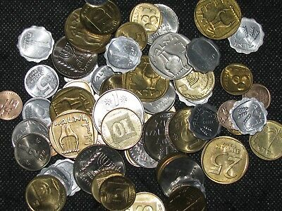 ISRAEL ~ 63 Coin Lot  ~ ( ALL AU/BU COINS ) MIDDLE EAST World Collection ~ #43