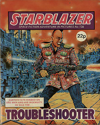 Troubleshooter,starblazer Space Fiction Adventure In Pictures,no.136,1985