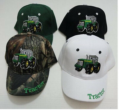 Boys Embroidered TRACTOR Hat Kids Ball Cap Many Colors New!
