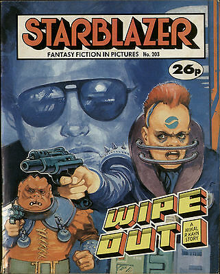 Wipe Out,starblazer Fantasy Fiction In Pictures,no.203,1987,comic