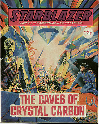 Caves Of Crystal Carbon,starblazer Space Fiction Adventure In Pictures,no.145