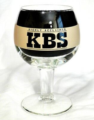 2013 Founders Brewing KBS Craft Beer Glass Goblet - Kentucky Breakfast Stout
