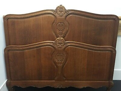 French Dark oak double vintage carved Louis XV,