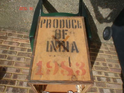 Very Old Indian Tea Trunk - Tea Chest Box Storage Bedside Table Cabinet Box....