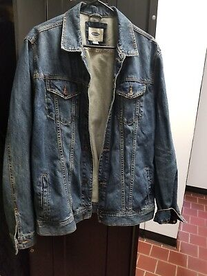 Old Navy Denim Jean Jacket XL Blue only used once