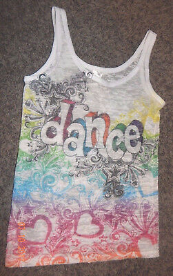 Youth Size Large--Heart & Soul Brand Graphic Burn Out Dance Tank --Excellent