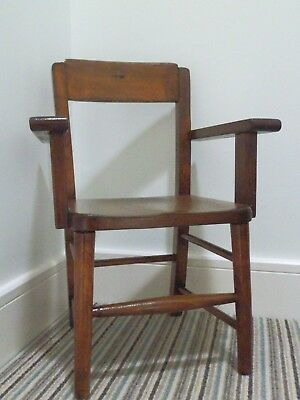 Vintage Child's Wooden Chair With Arms