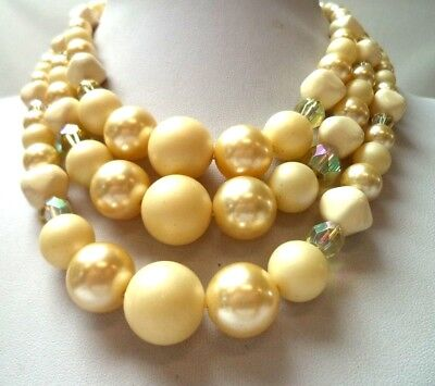 "Stunning Vintage Estate Signed Japan Faux Pearl Beaded 20"" Necklace!!! 1216W"