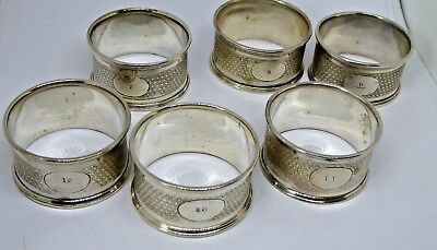 Part Set of Antique Silver or Silver Plated Napkin Rings
