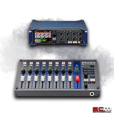 ZOOM F8 Multi Track Field Recorder and ZOOM FRC8 F-Control Control Surface Mixer