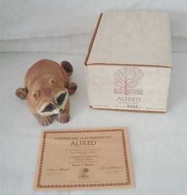Vintage 1978 By Artist Roger J Brown Porcelain ALFRED The Baby Raccoon