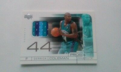 2001/02 Upper Deck Pros&Prospects DERRICK COLEMAN game jersey rare 3 color!