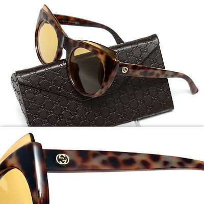 7ecbcf2dc8a GUCCI GG3781 S 55 22 Sunglasses Cat Eye Butterfly Tortoise Excellent ...