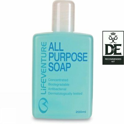 Lifeventure All Purpose Biodegradable Antibacterial  D of E Soap 200ML 62070